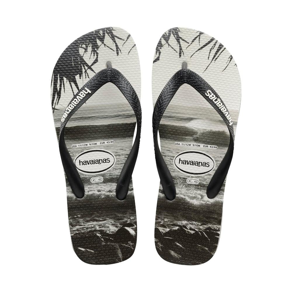 3687c12e9054 Havaianas Unisex Mens Boys Top Photo Print Flat Flip Flops - Black ...