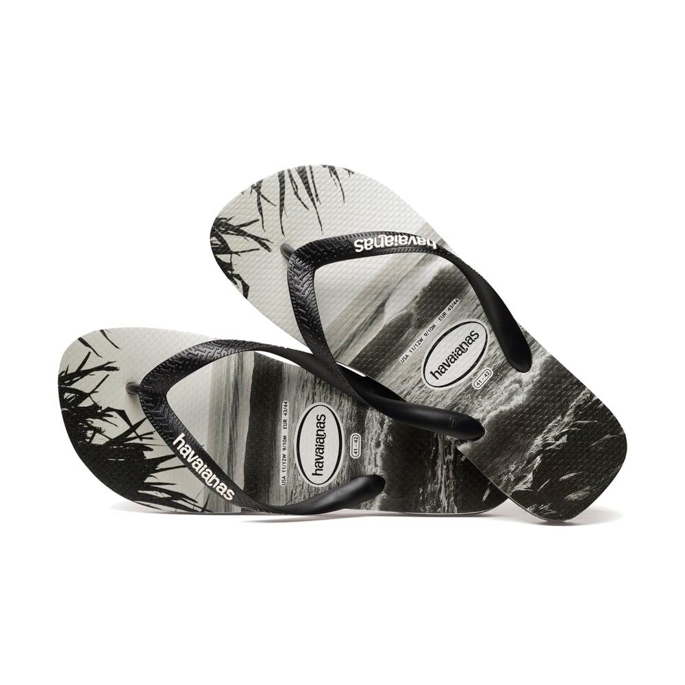 0a21b6d4a61ef8 Havaianas Unisex Mens Boys Top Photo Print Flat Flip Flops - Black ...