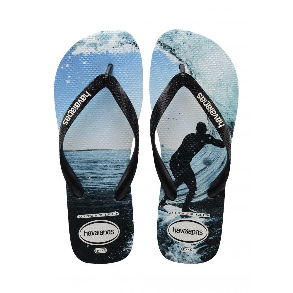 82ef9c5cc42fd0 Havaianas Unisex Mens Boys Top Photo Print Flat Flip Flops - Black ...