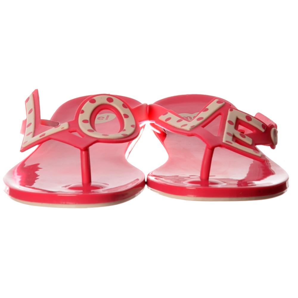 c4f56786f Mel Love City 2 Flat Flip Flop - LOVE - Summer Sandal - Grey   Pink ...
