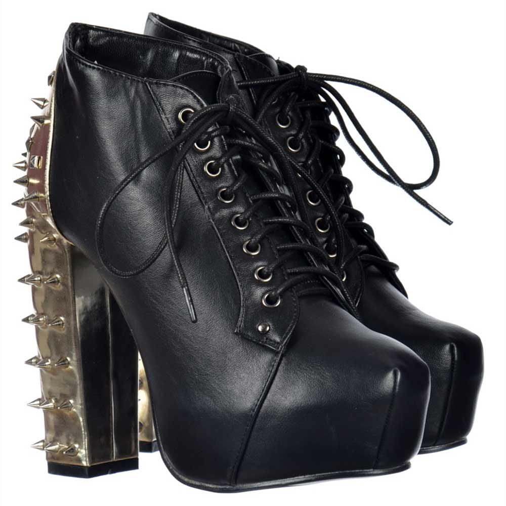 Onlineshoe Block Heel Ankle Boots
