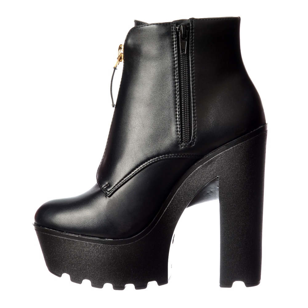 Onlineshoe Chunky Cleated Sole Platform