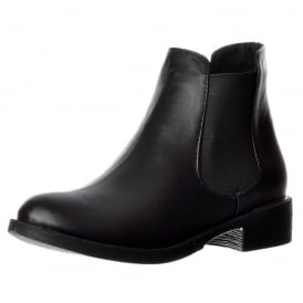 Classic Chelsea Flat Ankle Boot - Choice of Finishes Elasticated Sides