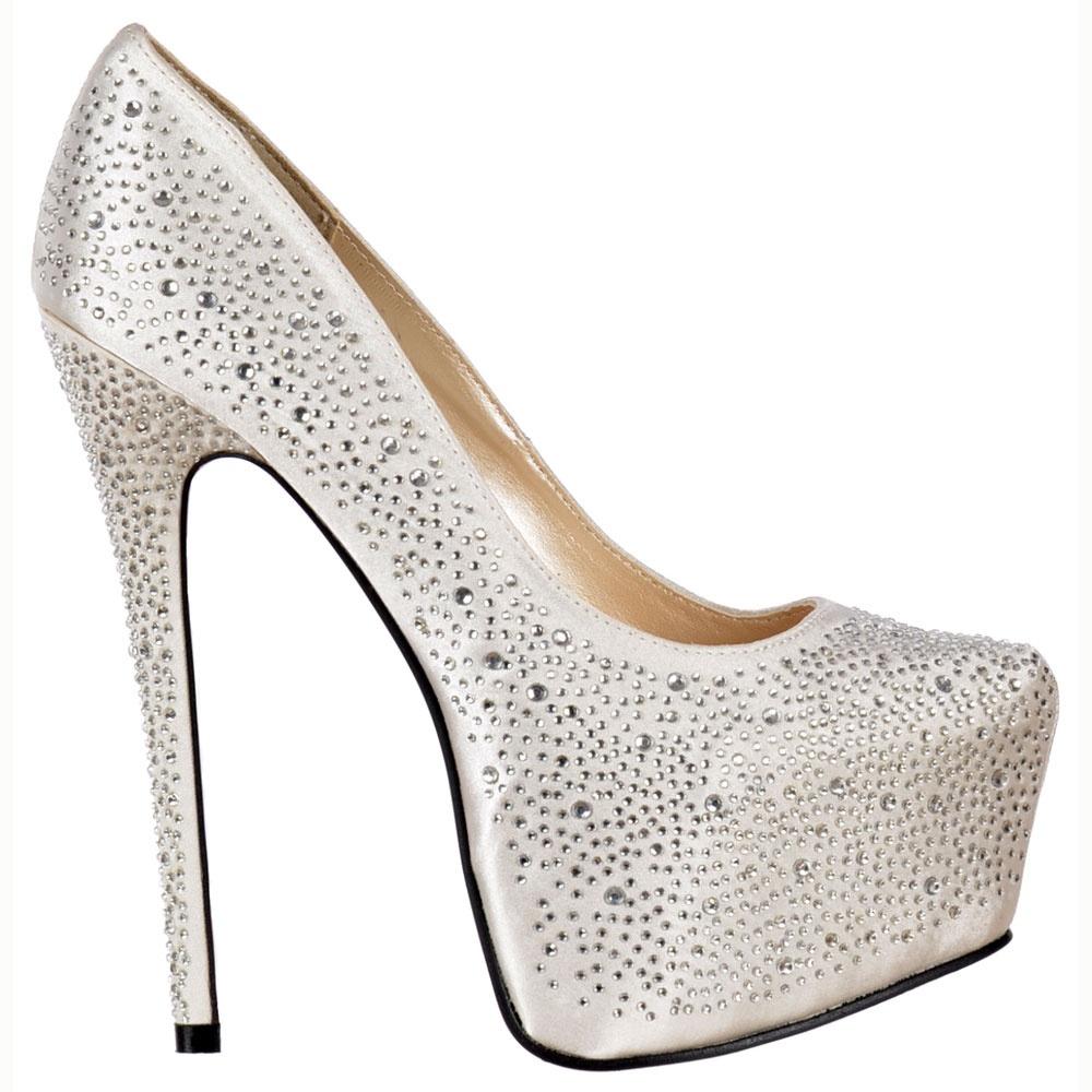 Onlineshoe Diamante Crystal High Heel