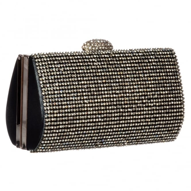 Onlineshoe Diamante Rhinestone Hard Case Evening Clutch Handbag Purse - Gold Diamante, Silver Diamante, Black Diamante