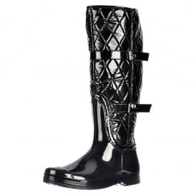 Flat Padded Inner Quilted Wellington Riding Rain Boots