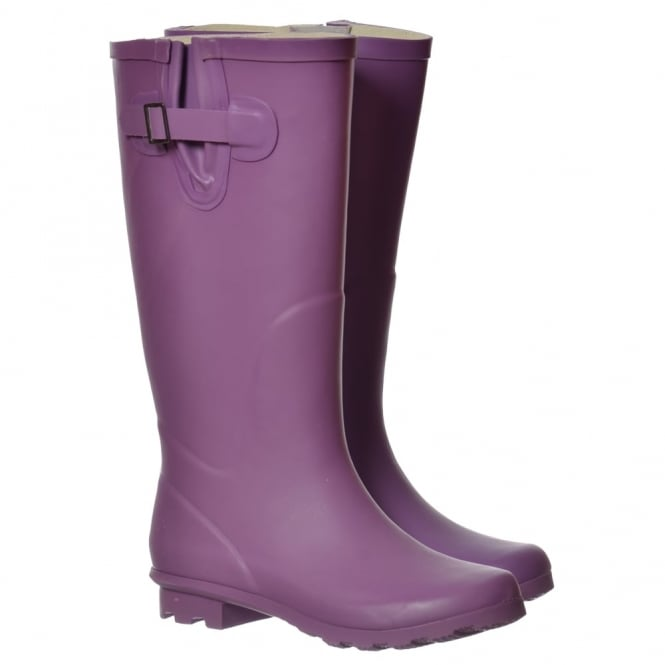 Onlineshoe Flat Wide Calf Wellie Wellington Festival Rain Boots - Assorted Colours