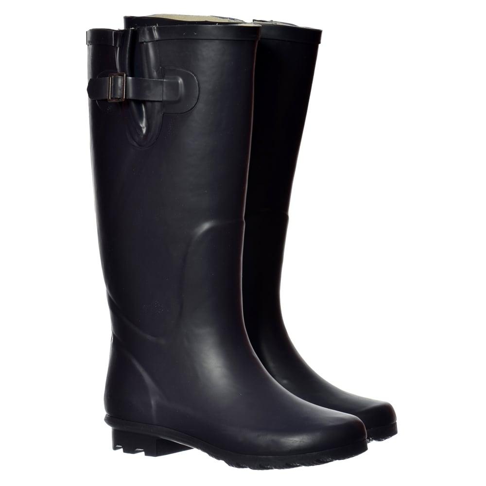 669d2dd15c5 Onlineshoe Flat Wide Calf Wellie Wellington Festival Rain Boots ...