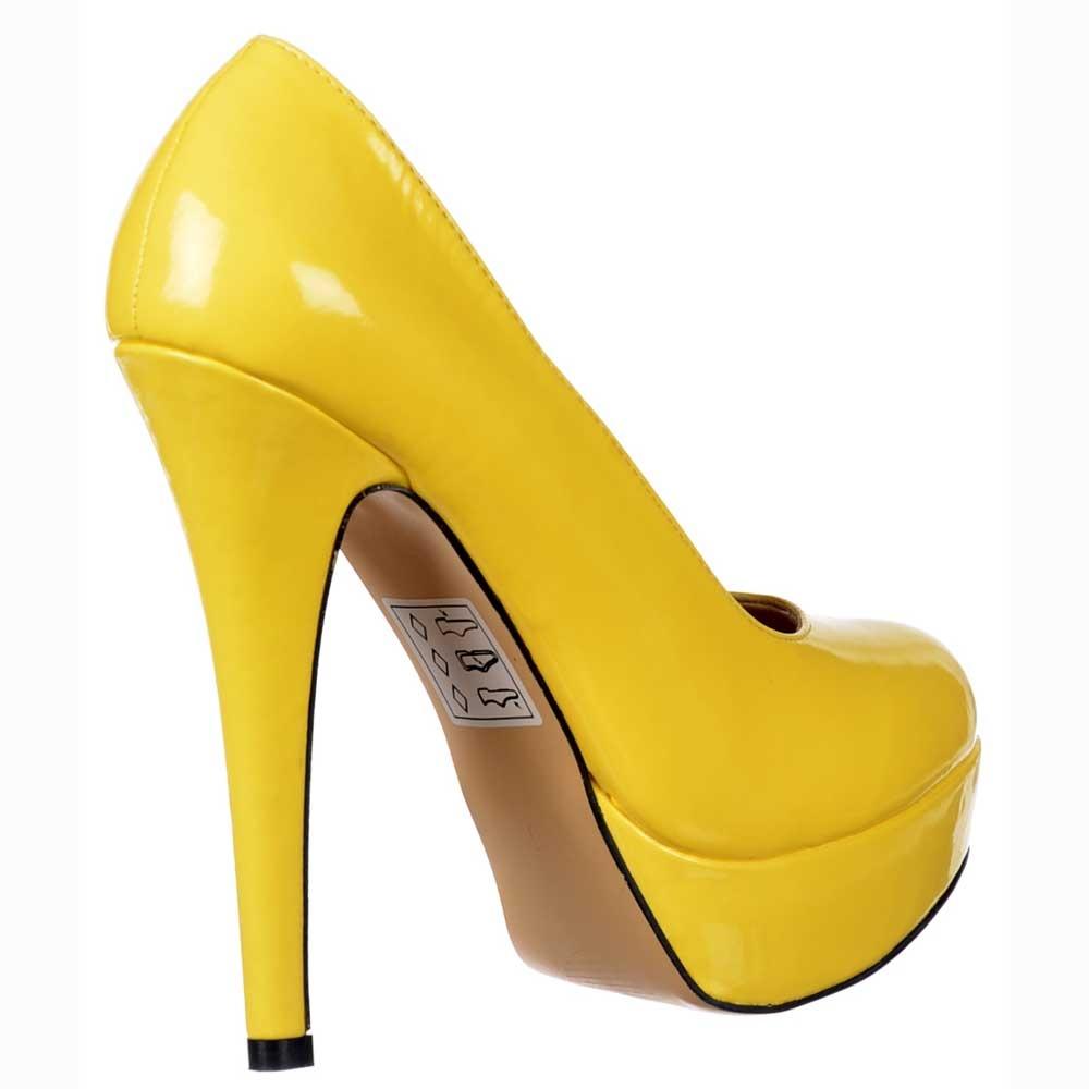 Onlineshoe High Heel Stiletto Platform - Party Shoes - Patent ...