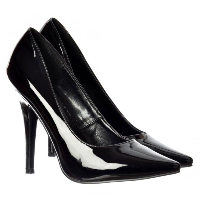 48fe01fa400 Large Sizes - Party High Heel Pointed Toe Court Shoes UK9-UK12 - Red, Black