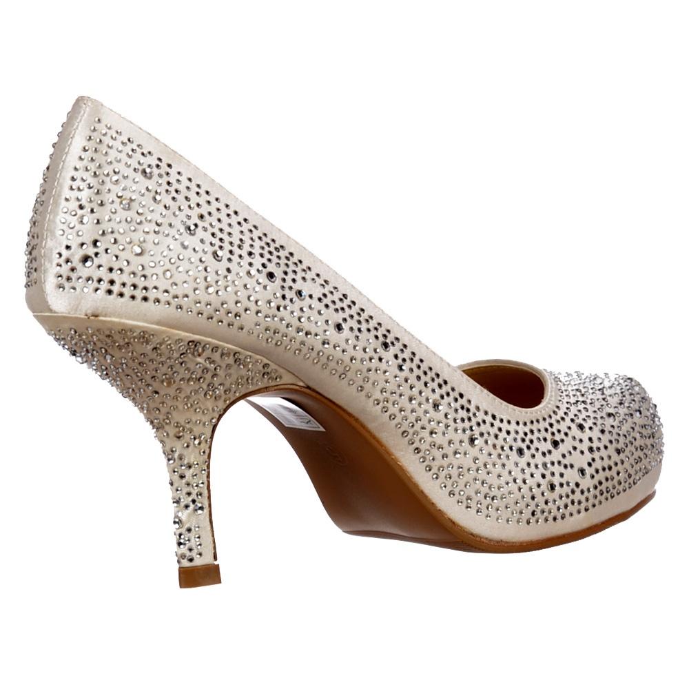 Low Kitten Heel Bridal Wedding Shoes