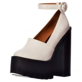 Macey Cleated Sole Platform High Heels - Ankle Strap