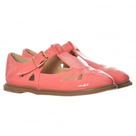 Madison Cutwork T Bar Flats - Cut Out Brogues - Black, Coral, Nude, White, Yellow