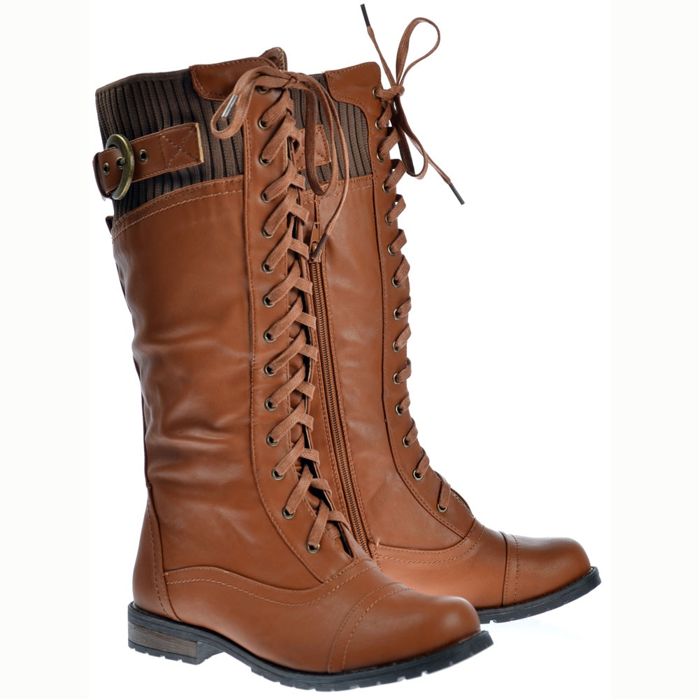 Onlineshoe Military Extra Wide Calf