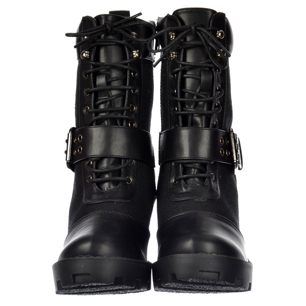 Onlineshoe Military Lace Up Ankle Boot