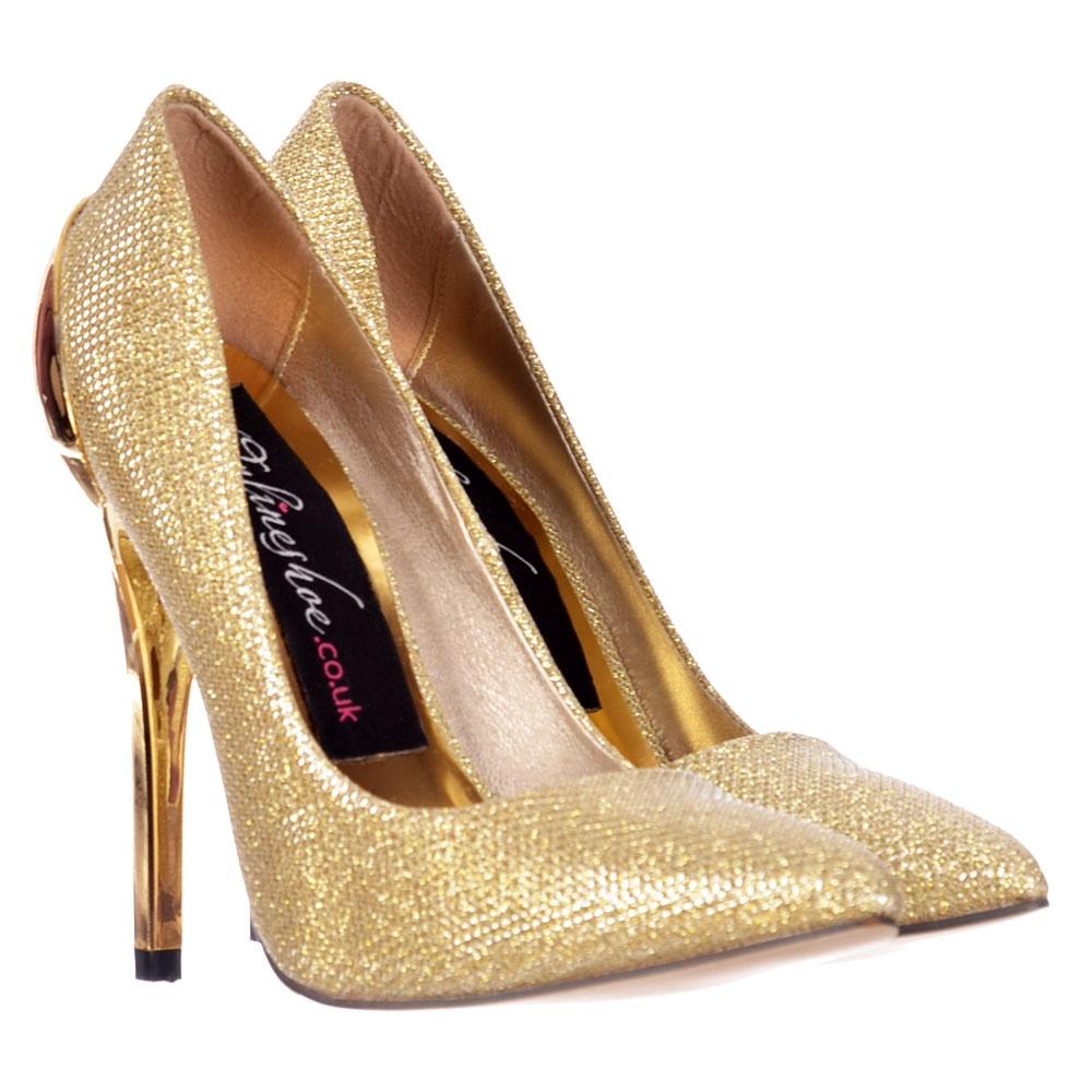 75581fde5b6d Onlineshoe Party Mid Heel Glitter Court