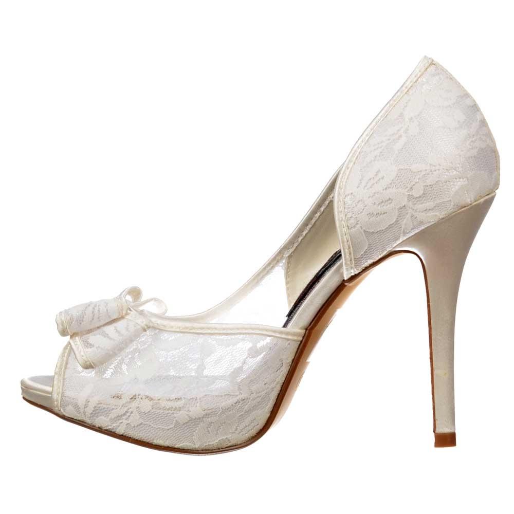 Peep Toe Bridal Wedding Shoes