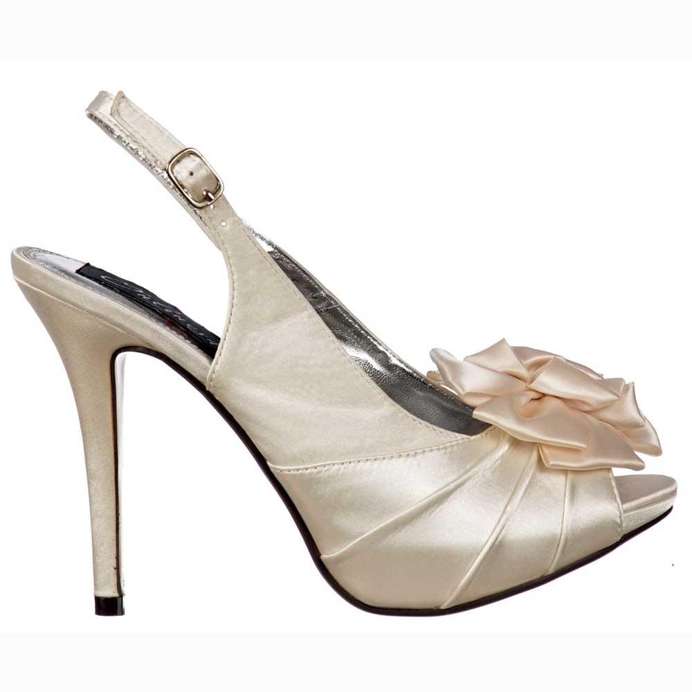 a1e3e79541d2 Onlineshoe Peep Toe Bridal Wedding Shoes - Slingback With Flower ...