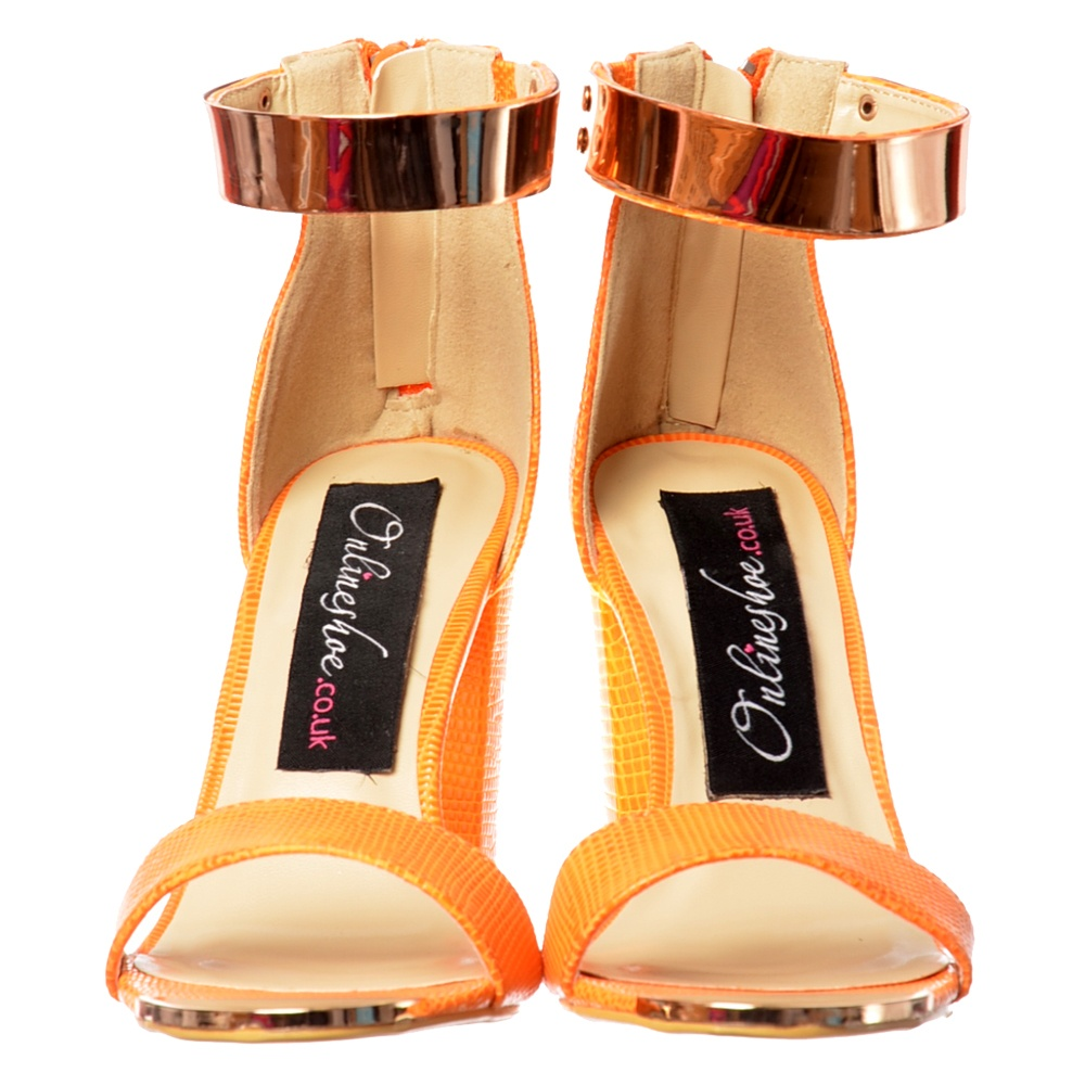 8b55e71c629 Onlineshoe Peep Toe Mid Heels - High Back Strappy Sandals Gold .