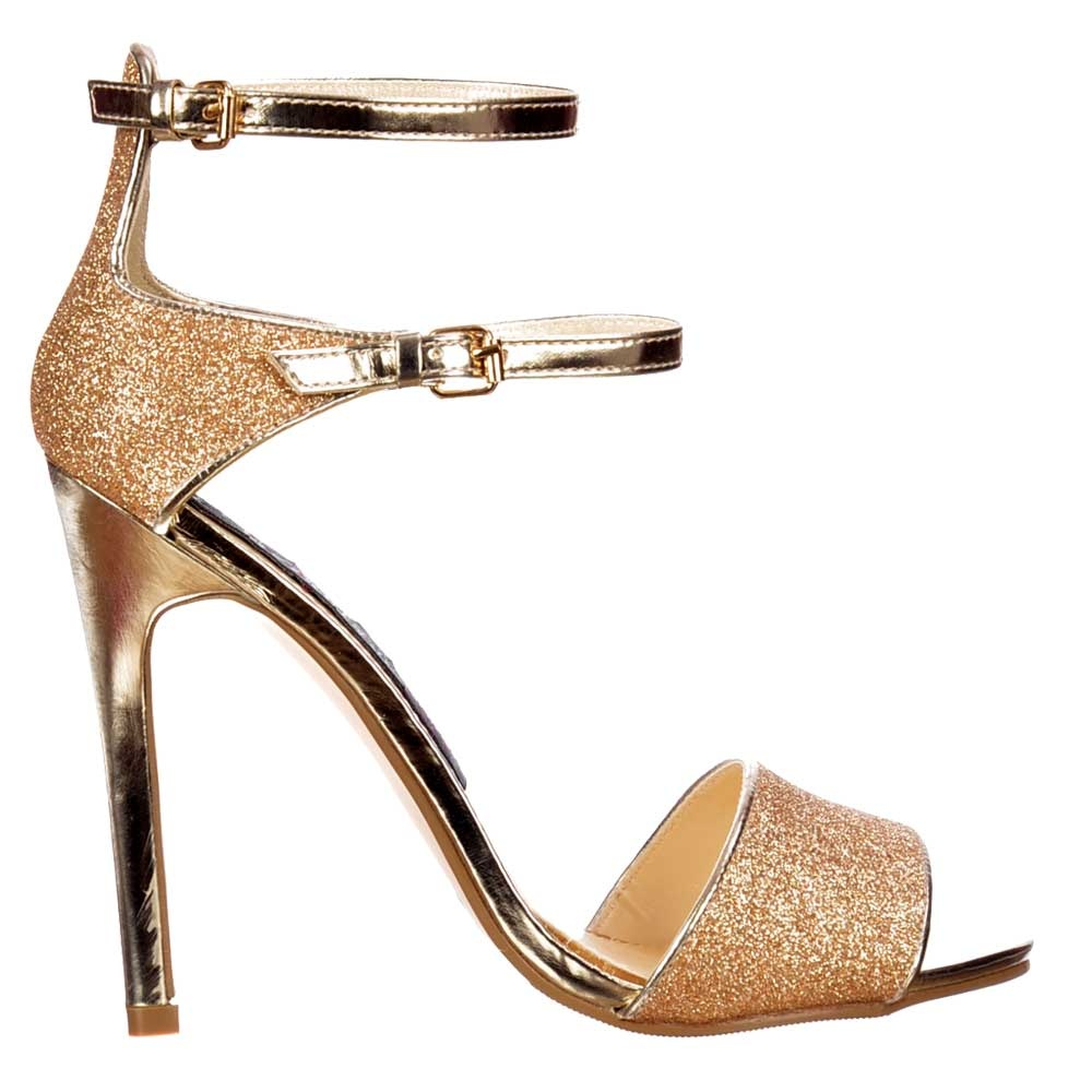 gold strappy heels uk authentic ad0e9 50686