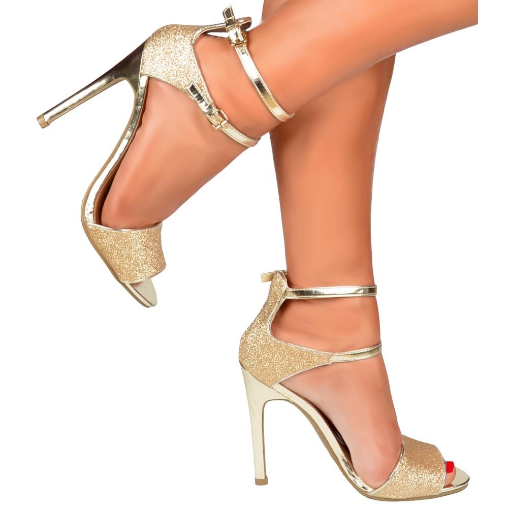 Onlineshoe Peep Toe Mid Heels - High