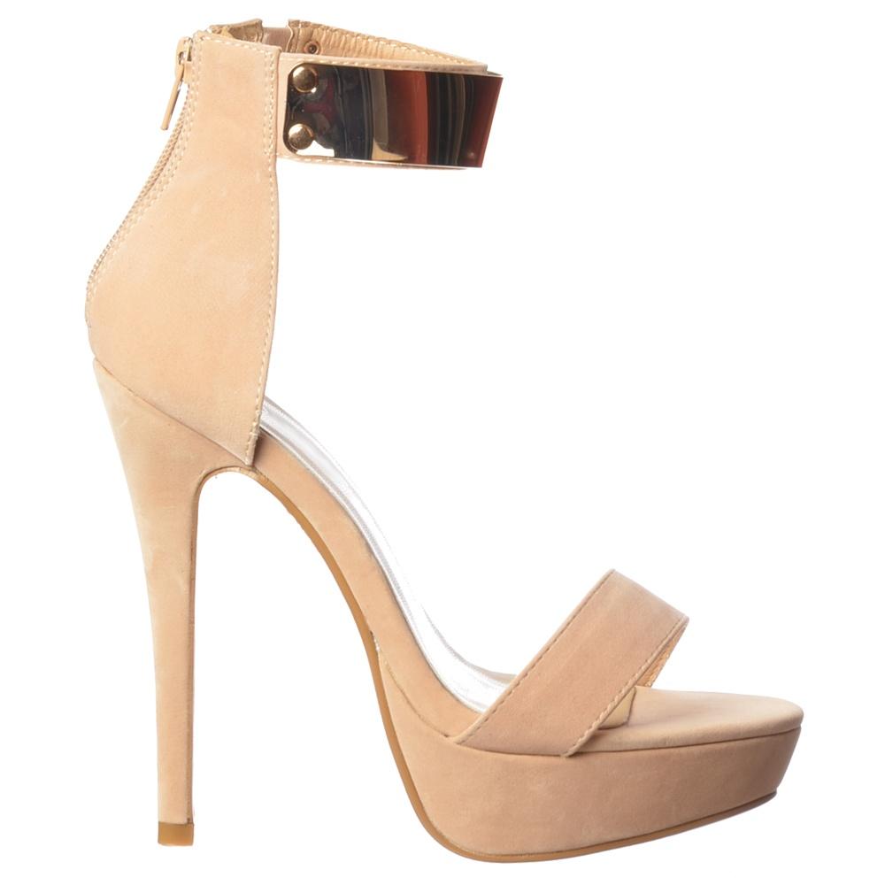 4214a211b85 Peep Toe Stiletto High Heels - High Back Strappy Sandals Ankle Cuff - Black