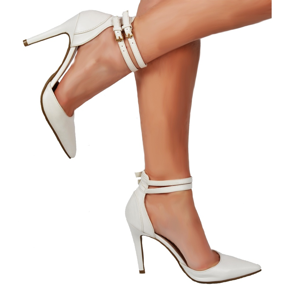 Onlineshoe Pointed Toe Mid Heels - High