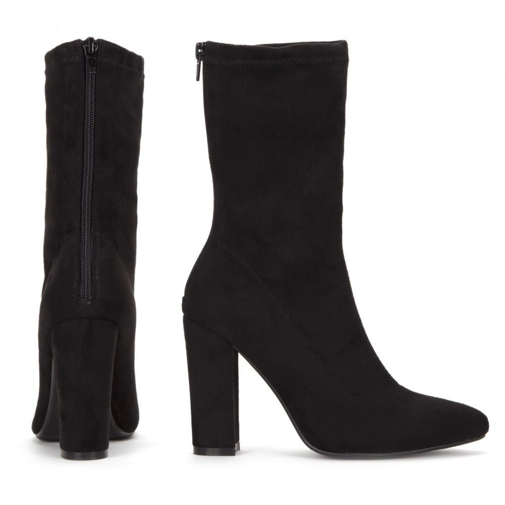 05fe05523882 Onlineshoe Pointed Toe Sock Ankle Boot Block Heel - WOMENS from ...