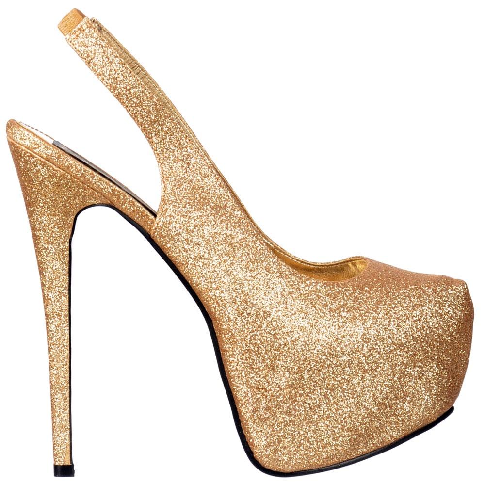 Onlineshoe Slingback High Heel Concealed Platform Stiletto Shoes ...