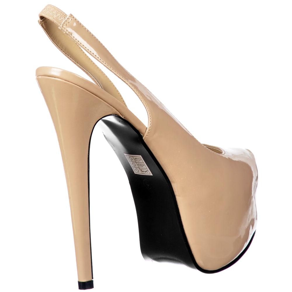 3e735fffa9 Onlineshoe Slingback High Heel Concealed Platform Stiletto Shoes ...