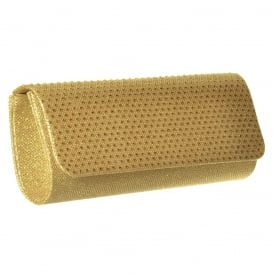 Sparkly Diamante Evening Clutch Handbag Purse - Gold Diamante, Silver Diamante