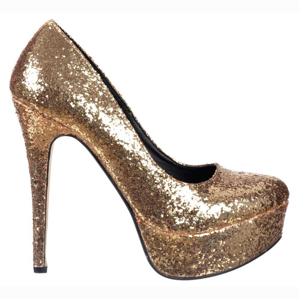 Onlineshoe Sparkly Glitter Platform Stiletto Heels - Party Shoes ... d8ab54d108