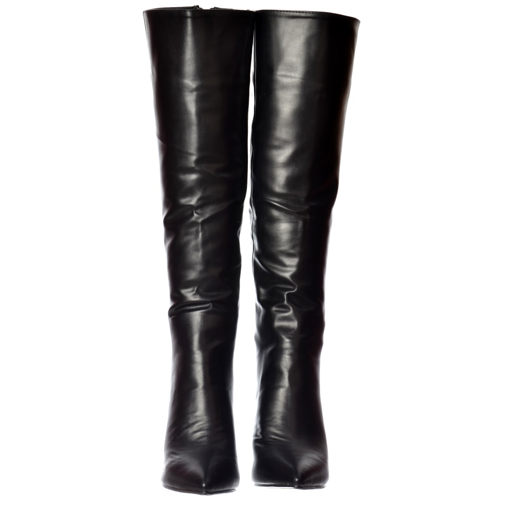 2a708cdda42 Onlineshoe Stiletto Heel Pointed Toe Knee High Boots - Black