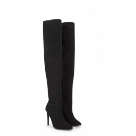 Stiletto Heel Pointed Toe Over The Knee Thigh High Boots