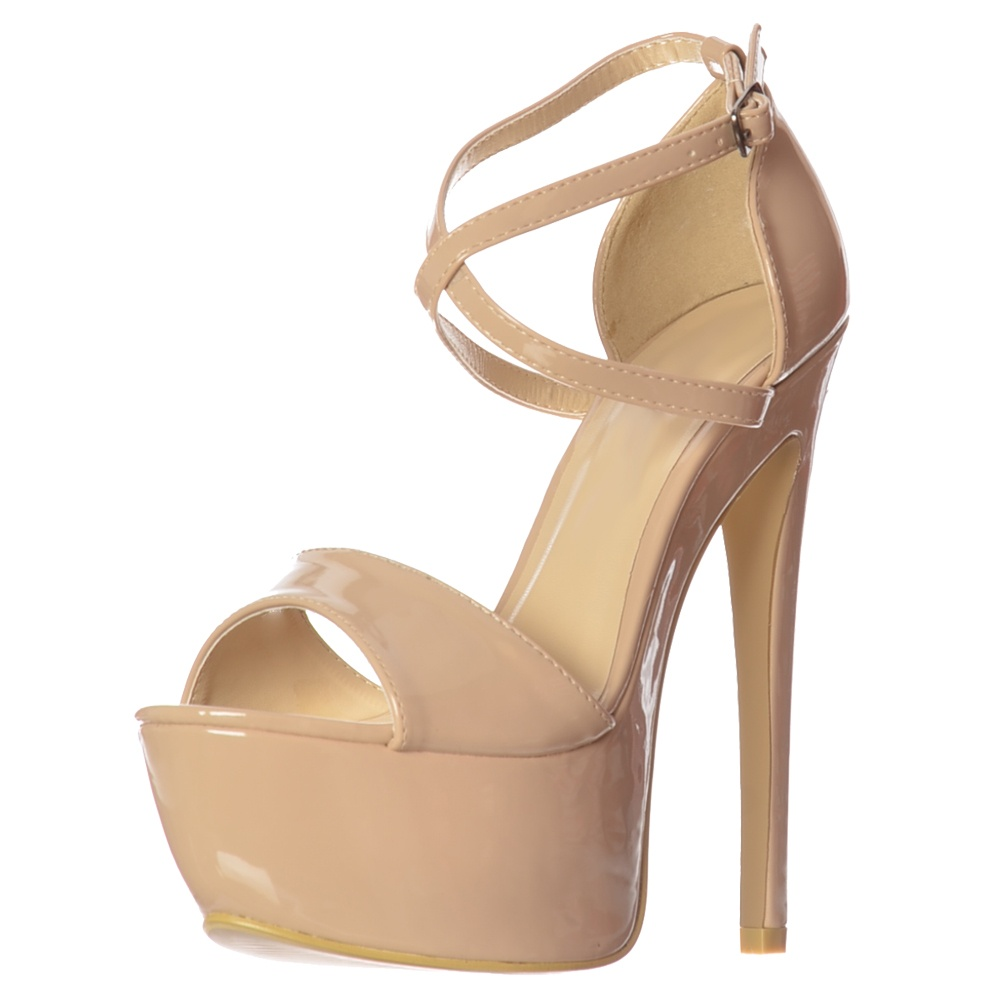 detailed pictures special for shoe latest fashion Onlineshoe Strappy Cross Over Pastel Stiletto Platform High Heel ...