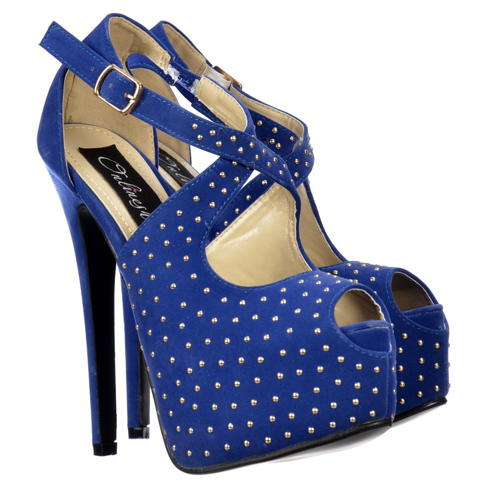 high heels shoes platform blue images. Black Bedroom Furniture Sets. Home Design Ideas