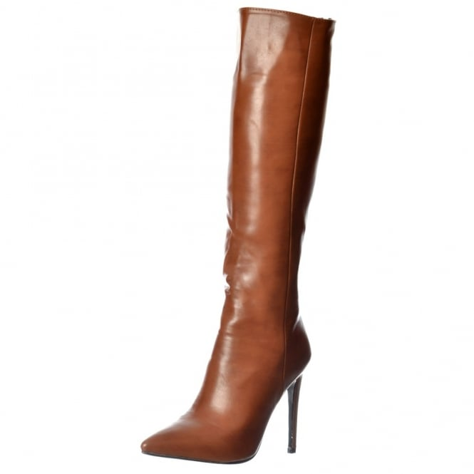 Onlineshoe Stiletto Heel Pointed Toe Knee High Boots