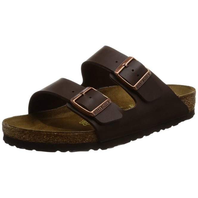 Birkenstock Mens Arizona Birkoflor - Standard Fitting Classic Buckled Two Strap - Flip Flop Sandal