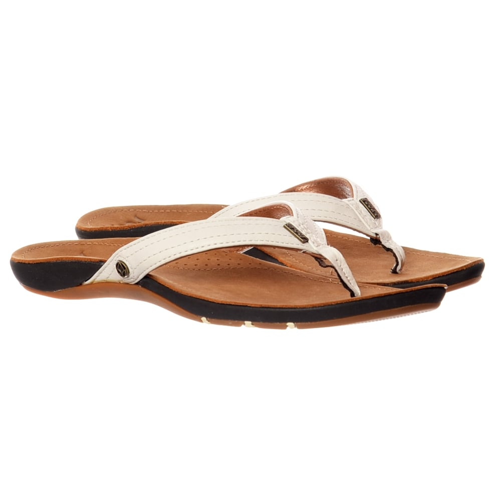 Kleidung & Accessoires Tan White All Sizes Reef Miss J Bay Womens Footwear Sandals