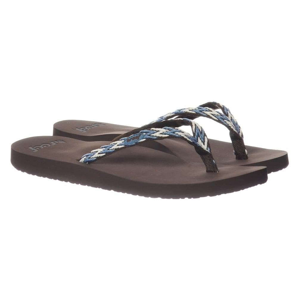 12f6680112ed Reef Ginger Drift - Flip Flop Sandal - Black Black