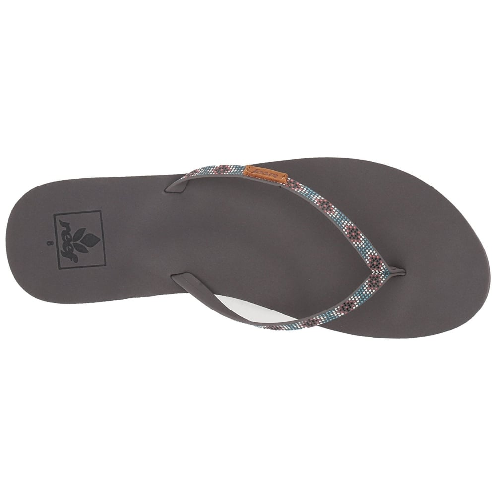 e4ececc1154b Reef Slim Ginger Beads - Flat Flip Flop - Black   Turquoise - WOMENS ...