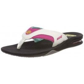 4a1e9adb8937 Women s Fanning - Flat Flip Flops With Bottle Opener - Black Grey Purple