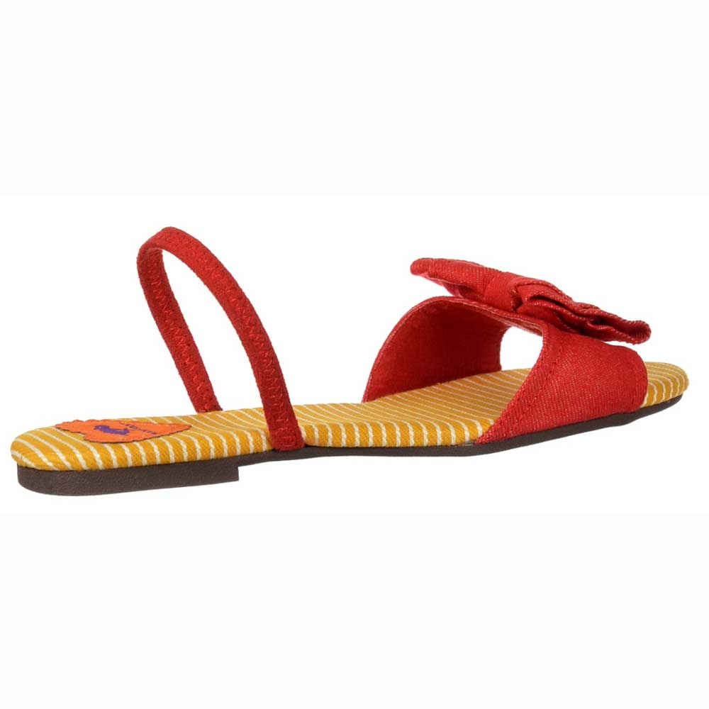 c387eb5ae22 Rocket Dog Babydoll Strappy Sandals - Bow Detail Shoes - Red Denim ...