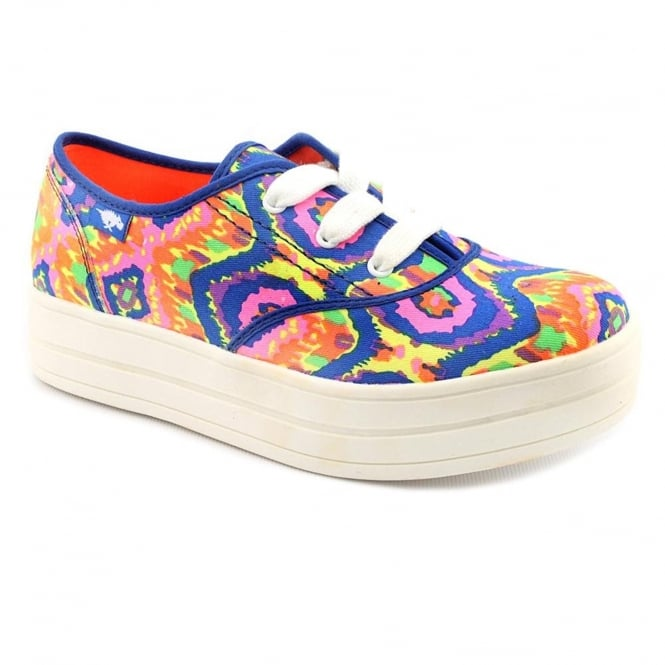Rocket Dog Baker Electric Boogie Cotton Lace Up Flats