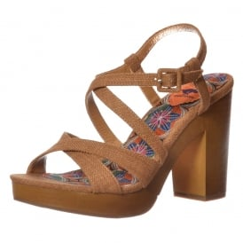 Belize Valencia Fabric Heeled Sandal