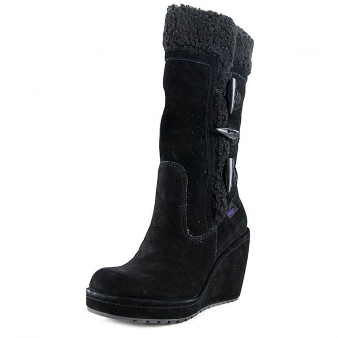 Rocket Dog Biddy Fleece Lined Wedge Winter Toggled Boot