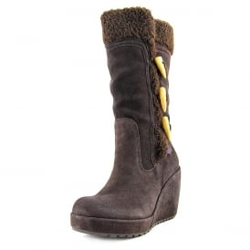 Biddy Fleece Lined Wedge Winter Toggled Boot