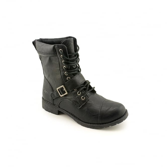 Rocket Dog Birmingham Military Lace Up Ankle Boots - Black