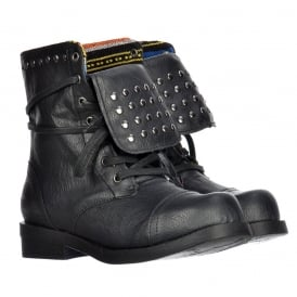 Brutus Studded Ankle Boots - Porter Black / Tan