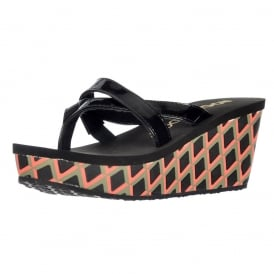 Delfina - Wedge Platform Flip Flop Sandals